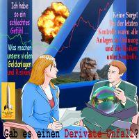SilberRakete_Banker-Geldanlagen-Risiko-Ueberpruefung-Blase-DeutscheBankLogo-Explosion-Saurier-Derivate-Unfall