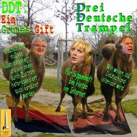 SilberRakete_DDT-Drei-Deutsche-Trampel-JFischer-CRoth-JTrittin-Trampeltiere-auf-Deutschen-Fahnen