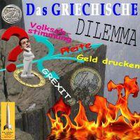SilberRakete_Das-Griechische-Dilemma-EURO-Tsipras-Weggabelung-Abstimmung-Pleite-Gelddruck-GREXIT-Abgrund-Feuer