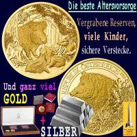 SilberRakete_Die-beste-Altersvorsorge-Wildschweine-Familie-Reserven-Kinder-Verstecke-GOLD-SILBER-Barren