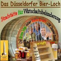 SilberRakete_Duesseldorfer-Bierloch-Strafstaette-Wirtschaftsbehinderung-Kraft-Loehrmenn-OBGeisel-Hinter-Gitter-Bier2