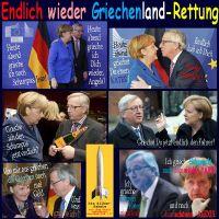 SilberRakete_Endlich-wieder-Griechenland-Rettung-Merkel-rot-Juncker-blau-Schampus