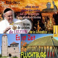SilberRakete_Endzeit-Papst-Franziskus-Letzte-Weihnachten-Zeit-fuer-Fluchtburg2