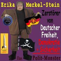 SilberRakete_Frankenstein-Erika-MerkelStein-Euro-DDR-Pirat-Zerstoerer-Deutscher-Freiheit-Monster