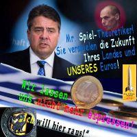SilberRakete_Gabriel-Spieltheoretiker-Varouvakis-verspielen-Land-Euro-Nicht-erpressen-Eule-raus