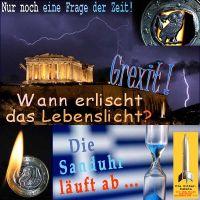 SilberRakete_Griechenland-Euro-Austritt-GREXIT-Akropolis-Gewitter-Eule-Lebenslicht-Zeit-Sanduhr-laeuft-ab