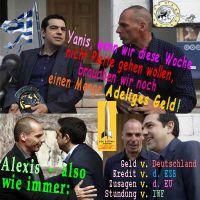 SilberRakete_Griechenland-Pleite-Euro-AlexisTsipras-YanisVaroufakis-Adeliges-Geld-von-Anderen-D-EZB-EU-IWF