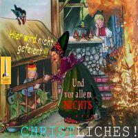 SilberRakete_Hexe-Merkel-im-Zerstoerungswahn-Deutsches-Volk-Verbot-Weihnachten-Baum-brennt
