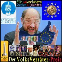 SilberRakete_Karlspreis2015-MartinSchulz-Hand-Euro-Preistraeger-EuropasUntergang-Volksverraeterpreis