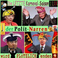 SilberRakete_Letzter-Karneval-wird-ploetzlich-enden-PolitNarren-Merkel-Gauck-Gabriel-deMaiziere