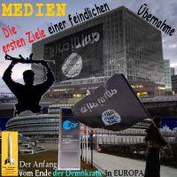 SilberRakete_Medien-Spiegel-ZDF-Erste-Ziele-feindlicher-Uebernahmen-SchwarzeFahne-Ende-Demokratie-Europa