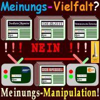 SilberRakete_Meinungsvielfalt-Zeitung-FAZ-ZEIT-SZ-Spiegel-Fernsehen-ARD-ZDF-Agenturen-Reuters-DPAMeinungsmanipulation