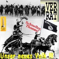 SilberRakete_Merkel-Berlin-Reichstag1945-2015-Quadriga-deMaiziere-Neues-Volk-SchwarzeFahne-Verrat