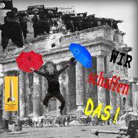 SilberRakete_Merkel-Berlin-Reichstag1945-2015-Regenschirme-EU-Wir-Schaffen-das-SchwarzeFahne-Verrat