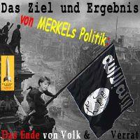 SilberRakete_Merkel-Berlin-Reichstag1945-2015-SchwarzeFahne-Ziel-Ergebnis-Politik-Ende-Volk-Verrat
