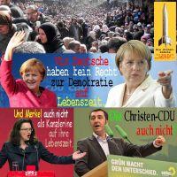 SilberRakete_Merkel-Deutsche-kein-Recht-auf-Demokratie-Lebenszeit-Fluechtlinge-Nahles-Kanzlerine-Oezdemir-CDU