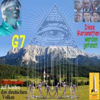 SilberRakete_Merkel-G7-Elmau-Berge-Auge-Marionetten-getanzt-Groessenwahn-Kosten-Deutsches-Volk