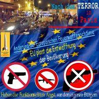 SilberRakete_Nach-Paris-20151113-EU-Verordnung-Richtlinie-Entwaffnung-Buerger-Verbot-Angst