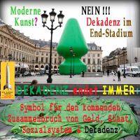SilberRakete_Paris-Kunst-Gruener-aufblasbarer-Tannenbaum-kaputt-Dekadenz-endet-immer2