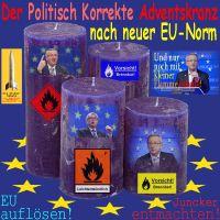 SilberRakete_Politisch-Korrekter-Adventskranz-Neue-EU-Verordnung-4blaueKerzen-Juncker-Warnungen