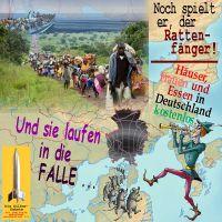 SilberRakete_Rattenfaenger-Fluechtlinge-in-Falle-Deutschland-Haeuser-Essen-Frauen-kostenlos