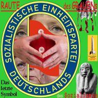 SilberRakete_Raute-des-Grauens-Merkel-Augen-RoteFahne-SED-Letztes-Symbol-des-Sozialismus2
