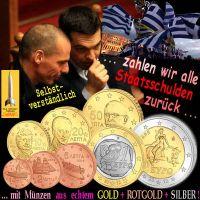SilberRakete_Regierung-Griechenland-Schulden-zurueckzahlen-GOLD-ROTGOLD-SILBER-Euro-Muenzen