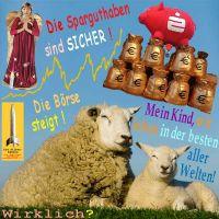 SilberRakete_Schafe-Beste-aller-Welten-Engel-Merkel-Spargeld-sicher-Sparkasse-Euro-Aktien-steigen