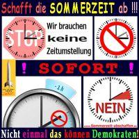 SilberRakete_Schafft-die-Sommerzeit-ab-Sofort-Nicht-einmal-das-koennen-Demokraten-Uhr-Stop-Verbot-Nein2