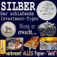 SilberRakete_SiLBER-Der-schlafende-Investment-Tiger-Muenzen-Erwacht-Papiergeld-verbrennt