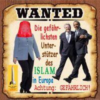 SilberRakete_WANTED-Merkel-Gauck-Obama-Unterstuetzer-ISLAM-Europa-gefaehrlich