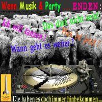 SilberRakete_Wenn-Musik-und-Party-enden-Plattenspieler-Euro-kaputt-Schafe-Weiter-tanzen-immer-hinbekommen